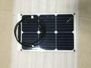 China Custom Size SunPower Flexible Solar Panels 18W 12V With CE LVD SGS Certification on sale