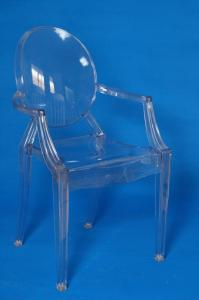 China Acrylic Clear Louis Ghost Chair , Green Comfortable Indoor Chair For Restaurant on sale