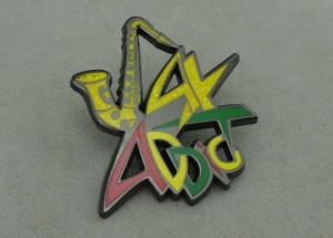 ADDC Soft Enamel Pin Zinc alloy And Glitter Black Nickel Plating 1 5
