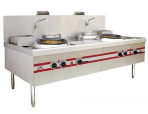 China 2 Burner Range Commercial Gas Stove For Home Chinese Big Wok Type on sale