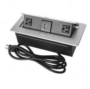 China American Standard Desktop Pop Up Power Socket / Conference Cable Box Evoline Pop Up Socket on sale