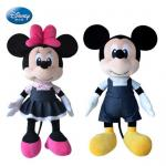 Black Disney Plush Toys Black Mickey Mouse And Minnie Mouse 16 inch