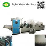 Automatic box drawing V fold facial tissue paper making machine
