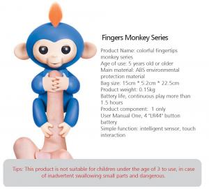 China interactive smart baby monkeys on finger Monkey Children Toy on sale