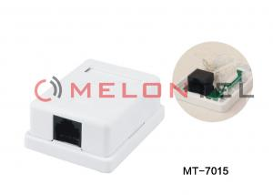 China ABS Material Single Port Surface Mount Outlets RJ45 Box White Surface Box With PCB on sale