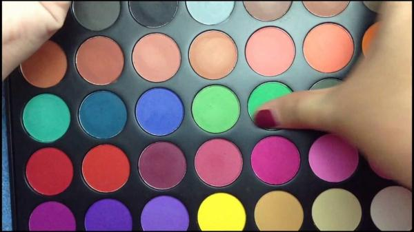 MSDS Standard Rainbow Eyeshadow Palette 35a For Beauty Mineral
