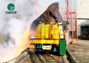 China Battery Driven Steel Billet Hot Metal Slag Ladle Transport Wagon Ingot/Bottom Pour Transfer Cars on sale