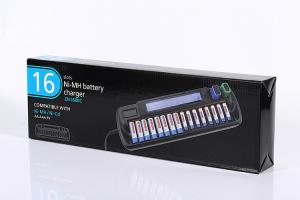 China High Precision 16 Slots NIMH Battery Charger Plastic Shell RoHS And CE Standard on sale