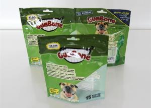 China Food Grade Zipper Dog Cat Food Packaging Block Square Flat Bottom on sale