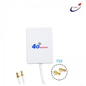 China 12dBi 4G 2X TS9 mimo ABS panel antenna Low Price For 4G HUAWEI ZTE USB   modem on sale
