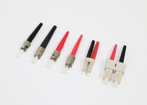 China Black And Red Boot MM Multimode Fiber Connectors With Duplex Clip on sale