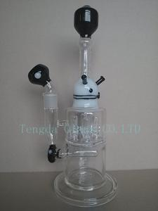 China black and white glass pipe of smoking pipe on sale