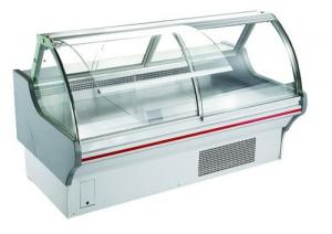 China Deli Fresh Meat Display Fridge With Stainless Steel Cabinet For Supermarket on sale