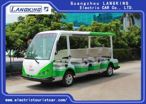 China Four Wheel 11 Seats Electric Passenger Vehicle With Small Cargo 72volt / 7.5kw Ac Motor on sale