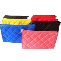 Personalized Small Polyester Zippered Cosmetic Bag , Red / Blue / Yellow / Black