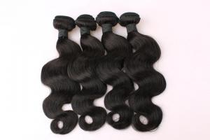 China Top Quality 10inch to 30 inch 100% Human Hair  Natural Black Body Wave Hair Weave on sale