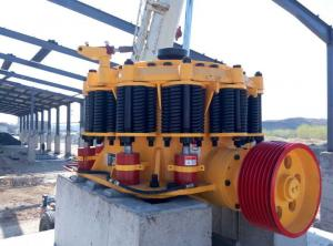 China Hydraulic Cylinder Yellow Spring Cone Crusher High Reduction Efficiency on sale