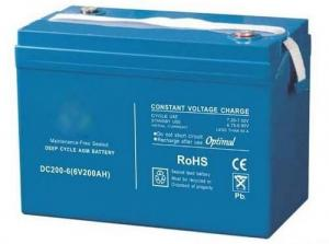 China DC200-6 Electric Sweeper 200Ah Deep Cycle Battery 30Kg Weight 306X169X220 mm on sale