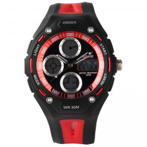China Red Dial 3atm Ladies Wrist Watches 14mm Case , Sport Stopwatch on sale