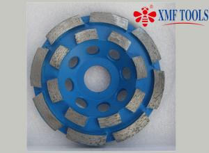 China Double Row Up 9  4.5  4 Inch Concrete Grinding Wheel  For Angle Grinder  Blue on sale