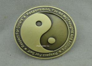 China Die Struck Personalized Coins , Transparent Enamel Brass Material Police Coin on sale