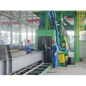 China Chaîne de production automatique de poutre en double T, plaque d'acier grenaillant la machine on sale