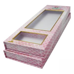 China Custom Wig box book shape luxury drawer box display Packaging boxes on sale
