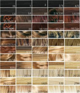 Synthetic Blonde Hair Color Chart