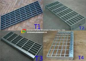 China Construction Metal Stair Steps , Exterior Metal Stair Treads 40mm Width on sale