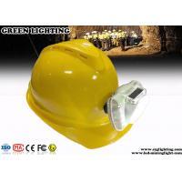Cool White Cordless LED Mining Cap Lamp 13000 Lux Brightness Anti - Explosive