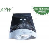 China 16oz Ziplock Black Coffee Tea Bags FDA Passed With Gravure Printing on sale