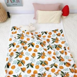 China Cotton Muslin Receiving Blankets Skin Friendly  Tummy Time Blankets Reactive Printing on sale