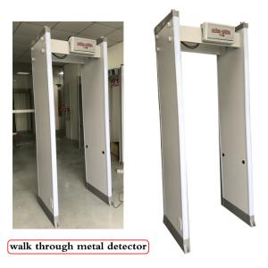 China 18 33 Zones Body Metal Detectors Outside Waterproof Walk Through Metal Inspection Gate on sale