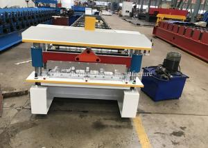 China Automatic Aluminum Ibr Roofing Sheet Roll Forming Machine Hydraulic Cutting on sale