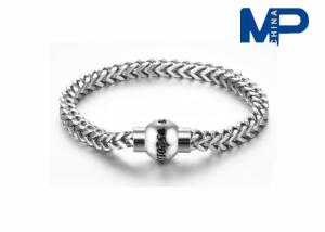 China Os homens personalizados do tamanho ligam o bracelete de magnético 316L de aço inoxidável on sale