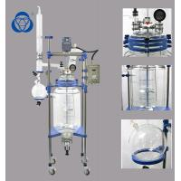 China Reaction Vessel Double Layer Autoclave Lab Glass Reactor With Column Condenser on sale