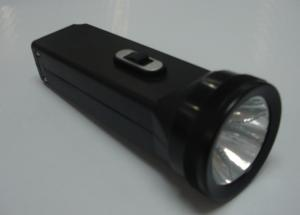 China Black Case Rechargeable Emergency Plastic Led Torch Flashlight With 3 Leds on sale