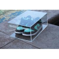 Custom Transparent Acrylic Shoe Box Storage Containers For Display