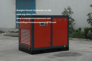 China VSD Permanent Magnetic Low Noise Screw Air Compressor 75kw Variable Frequency Oil Injected on sale
