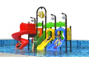 China Simple Outdoor Water Playground , Powder Coated Plastic Outside Play Equipment on sale