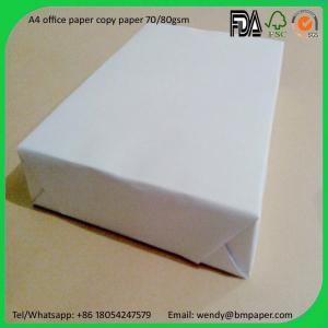 China 80GSM Colorful and white color Copy Paper Printer Paper with A4 Letter Size on sale