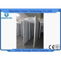 Adjustable Sensitivity Walk Through Metal Detector Security Gate PVC Synthetic Material