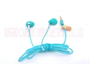 China Blue Colour Wire In-ear Earphone Control Noise Cancelling Earphone With Mic on sale