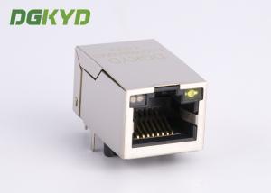 China 90 Degree shielded gigabit ethernet rj45 connector with magnetics cat6 rj45 plug on sale