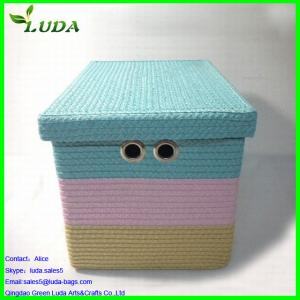 China Extra large weave canvas household storage box on sale