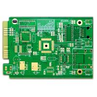 China Computer PCB FR-4 4 Layer Pcb Prototype ENIG Green Soldmask White Silkscreen With Gold Finger on sale