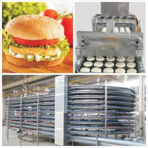 China Humburger Bread Or Buns Automatic Production Line / Plant / Whole Machine Line on sale