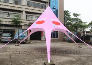 China pink color customized logo star tent outdoor activity event tent display oxford tent for sale on sale