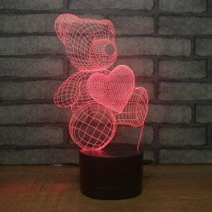 China Manufacturer wholesale multicolored USB 3D acrylic led small night light, Led table lamp night lamp on sale