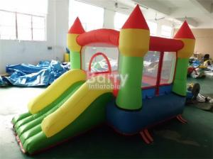China Customized mini inflatable party bouncers , jump house with small slide for kids on sale